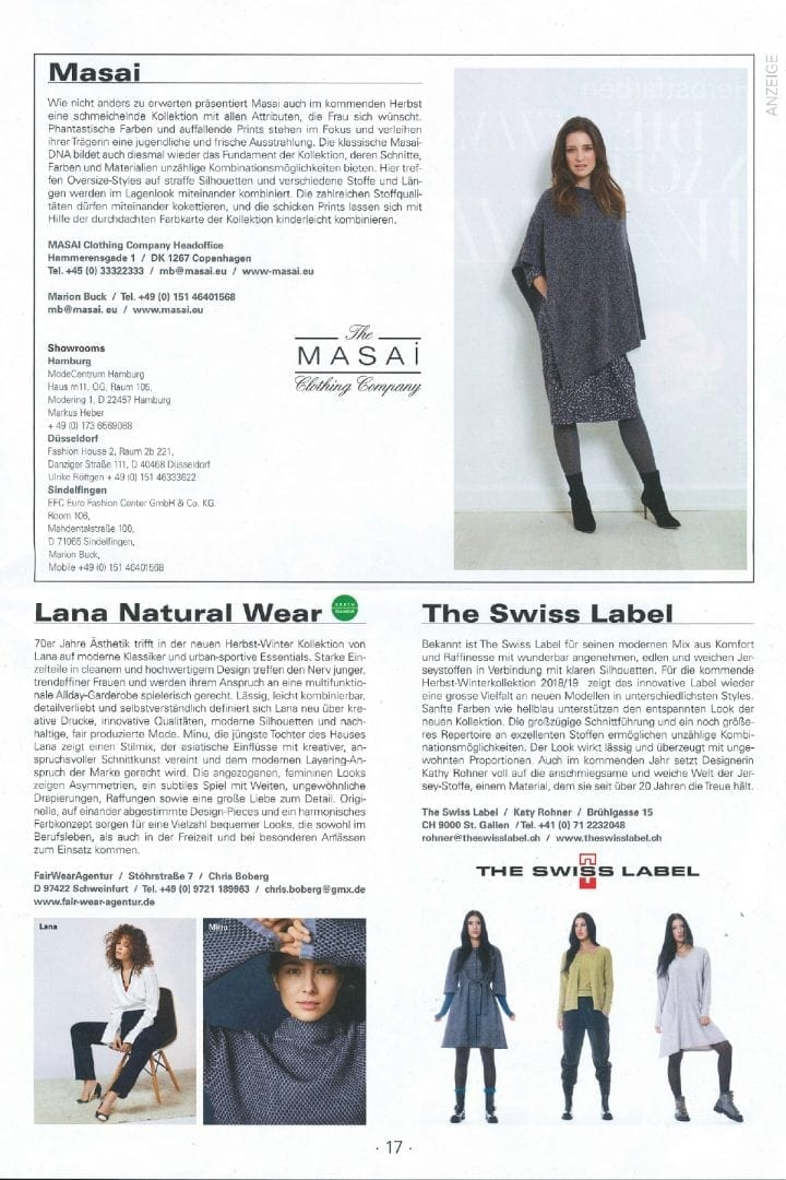 Lana Natural Wear in In Fashion 01.2018