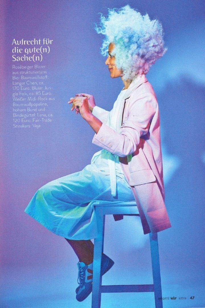Lana SS18 Mantel Federika in der Brigitte Wir Nr.1 2018